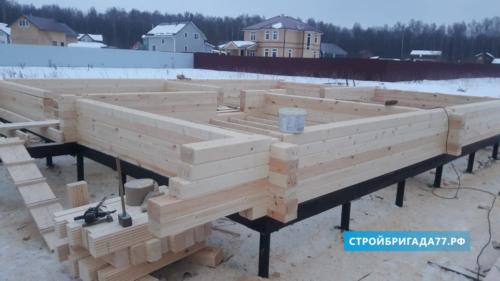 Строительство деревянного дом в Серпухове Московкой области